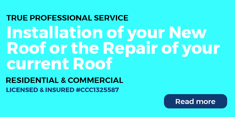 Installation of your New Roof or the Repair of your current Roof